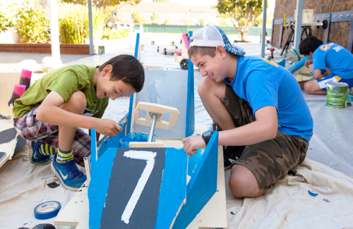 Galileo Summer Quest campers build a go-kart