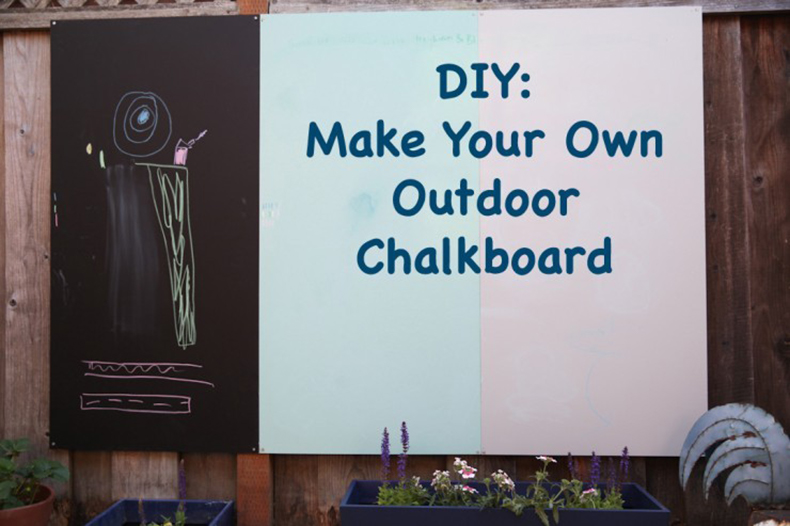 DIY: Make Your Own Outdoor Chalkboard