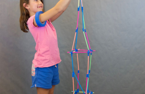 finished straw tower