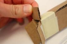 Cardboard tube flap