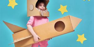 Using cardboard to make a DIY astronaut costume