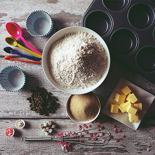 DIY Courageous Muffins - ingredients