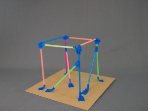 Step 4: Add crossbeams to your straw tower