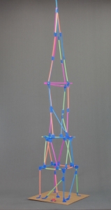 Step 7: Keep building your straw tower