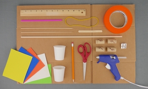 DIY Cardboard Automaton - Materials