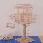 Craft Stick DIY: Treehouse Architecture - Camp Galileo Anywhere Live Online Classes for 4th & 5th Graders. Social interaction & enriching creativity after school.